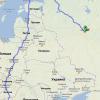 карта нашего пути